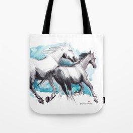 Horses (Mom&kid) Tote Bag