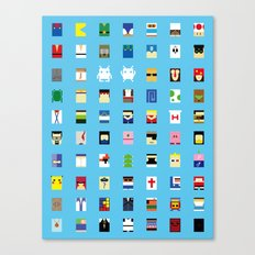 Minimalism beloved Videogame Characters Canvas Print