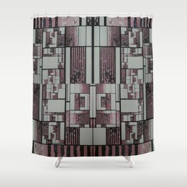 FX#509 - The Faded Geometric Shower Curtain