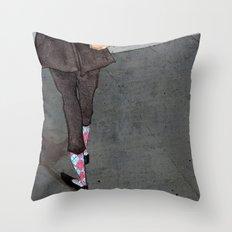 Argyle Socks by Kat Mills Throw Pillow