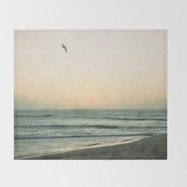 Lonely Flight Throw Blanket