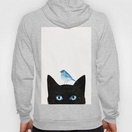 Cat and Bird Hoody