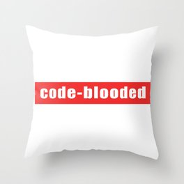 Code-blooded Throw Pillow