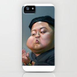 Caricature kim jong un iPhone Case