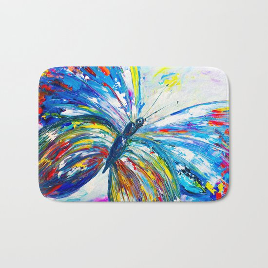 The Butterfly Bath Mat