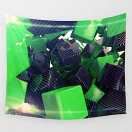 The Riddler Maze of Carbon Quaders Wall Tapestry