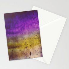 Purple and Yellow Frozen in Time Stationery Cards
