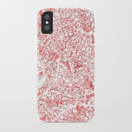Red butterflies iPhone Case