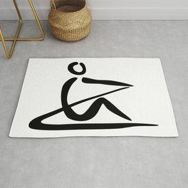 Rowing Logo 1 Rug
