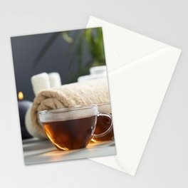 tea and spa composition Stationery Cards