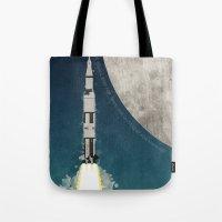 apollo Tote Bags featuring Apollo Rocket by WyattDesign
