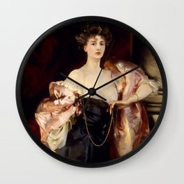 Lady Helen Vincent by John Singer Sargent Wall Clock