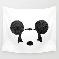 mickey Wall Tapestries featuring Mickey Hatching by a.k.a. Loktys
