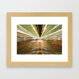seattle lights Framed Art Print