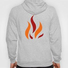 Flame Pattern Red Orange Hoody