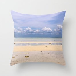 Tranquil Still Ocean and Cloud Reflections - Ko Phi Phi, Thailand Throw Pillow
