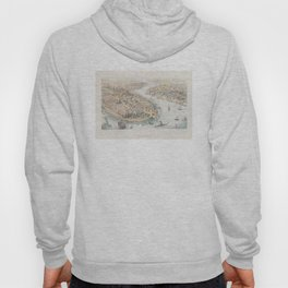 Vintage Pictorial Map of New York City (1852) Hoody