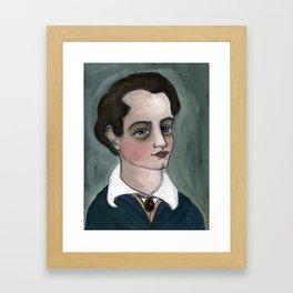 """The Dream of Lord Byron"", Lord Byron Literary Portrait Framed Art Print"