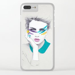 War Paint Sally Clear iPhone Case