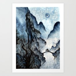 """All Night, Waterfall, Reminded Dream"" Art Print"