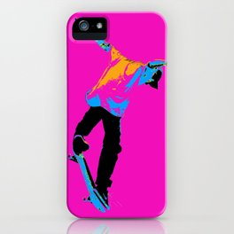 """Flipping the Deck"" Skateboarding Stunt iPhone Case"