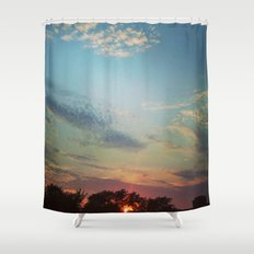 Dark Clouds File in When the Moon is Near Shower Curtain