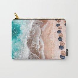 Ocean Print, Aerial Beach Print, Blue Teal Turquoise Sea, Australia Wall Decor, Aerial Beach Print, Beach Photography, Bondi Beach Print Art Print Carry-All Pouch