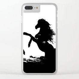 Wild horses 1 Clear iPhone Case
