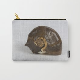 Brown Spiral Shell Carry-All Pouch
