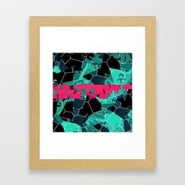 Crushing Contrast Framed Art Print