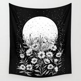 Moon Greeting Wall Tapestry