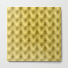 Knitted spring colors - Pantone Primrose Yellow Metal Print