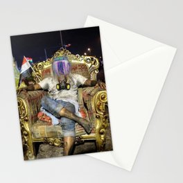 Testing the throne Stationery Cards