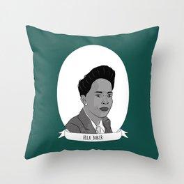Ella Baker Illustrated Portrait Throw Pillow