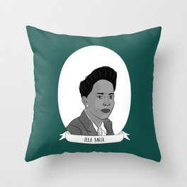 Ella Baker Illustrated Portrait Throw Pillow