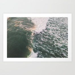 Two sides of the wave, 2018 Art Print