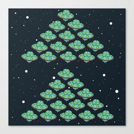 cute invader UFOs Canvas Print