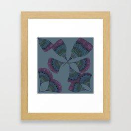 FLORAL FANS Framed Art Print