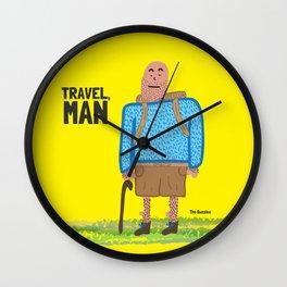 Travel, Man Wall Clock