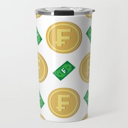 Swiss franc pattern background Travel Mug