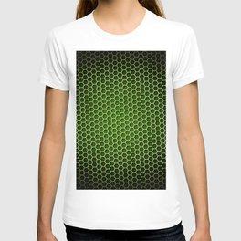 Honeycomb Background Green T-shirt