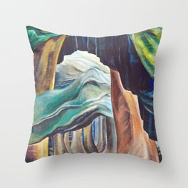 Emily Carr Forest British Columbia Painting Throw Pillow