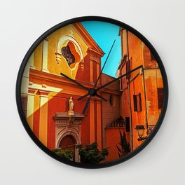 Church in Roquebrune Wall Clock