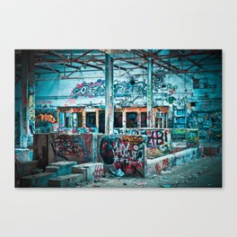 Abandoned Factory Made Art Canvas Print