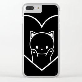 Cat in Heart Clear iPhone Case