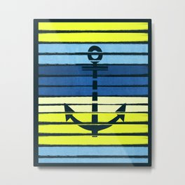 Anchor - beach theme summer tropical nautical home decor dorm decor beach life surfing boating art Metal Print