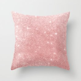 Blush pink sparkles Throw Pillow