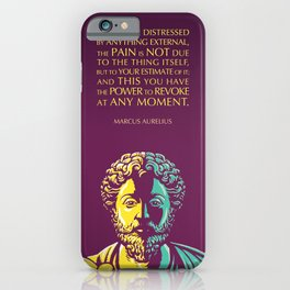 Marcus Aurelius Inspirational Stoic Quote: The Power to Revoke iPhone Case