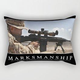 Marksmanship: Inspirational Quote and Motivational Poster Rectangular Pillow