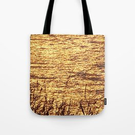 Sparkling Sea of Gold Tote Bag